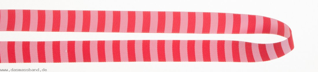 Farbenmix WB151 Webband, Ringelband rosa-rot, Meterware