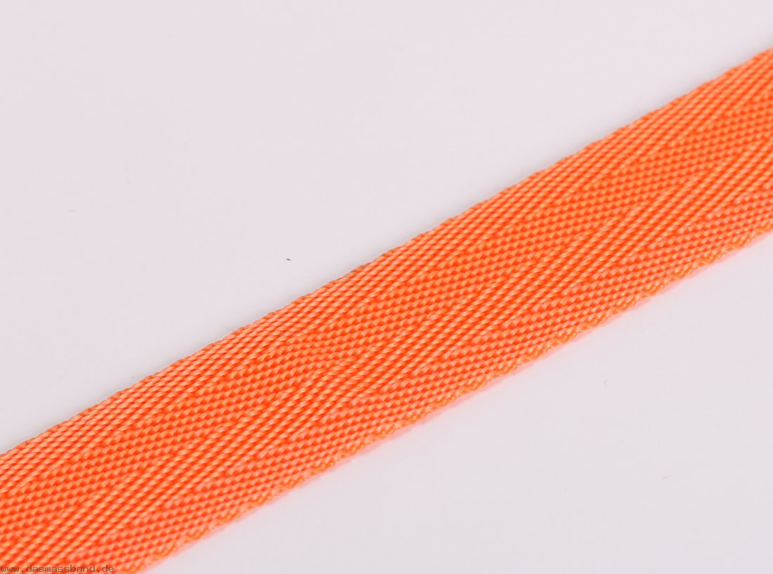 Gurtband 25mm fischgrat, orange, Polypropylen, Meterware