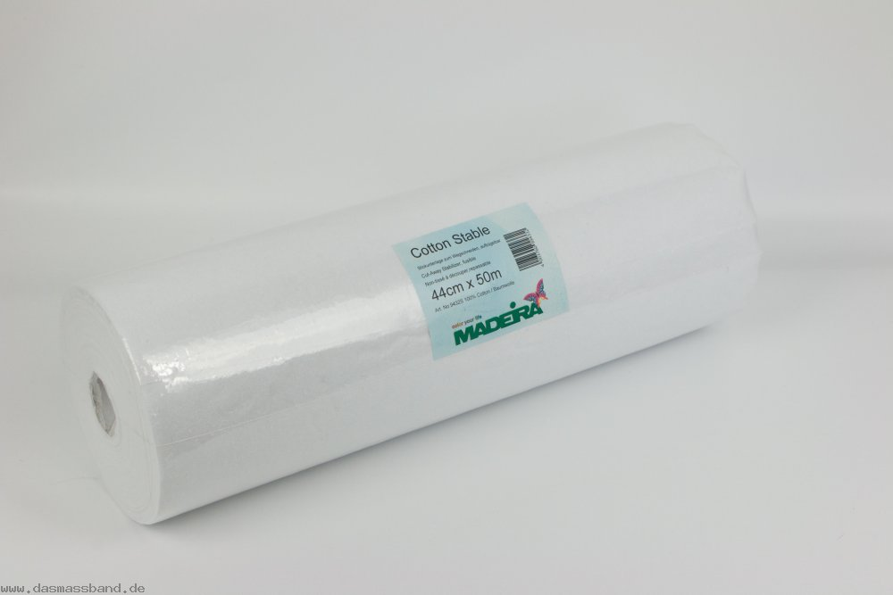 Madeira 9432S Tear Away Cotton Stable, XXL Rolle 50m x 44cm