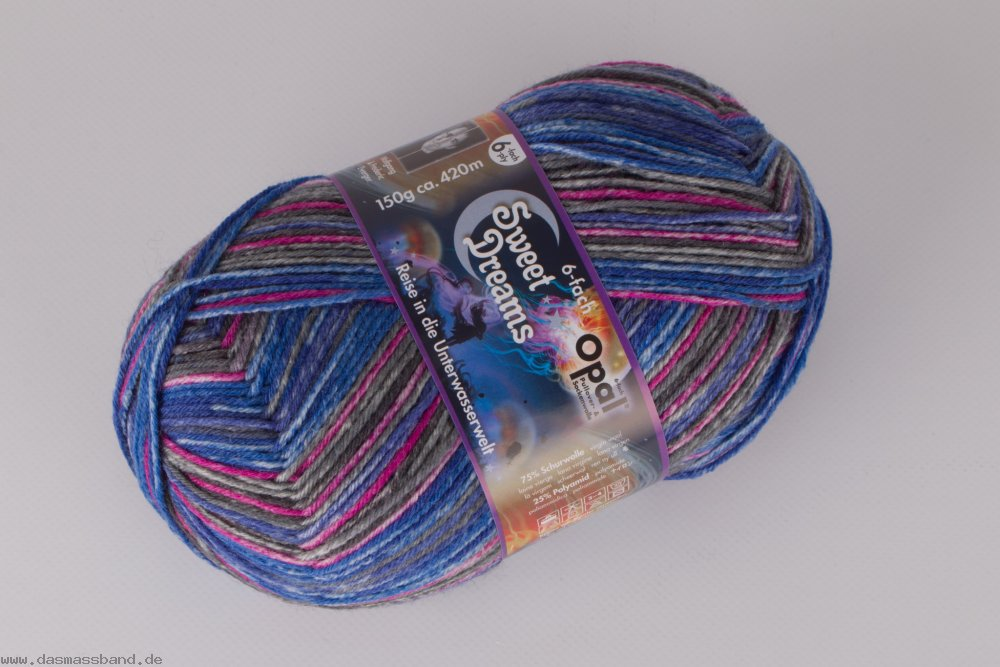 Opal Sweet Dreams 6-Fach Wolle, 150g Farbe 9725