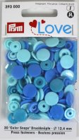 Prym 393000 Color Snaps Love mix-blau