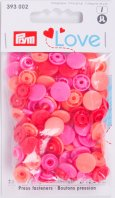 Prym 393002 Color Snaps Love mix-rot