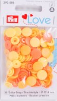 Prym 393004 Color Snaps Love mix-gelb