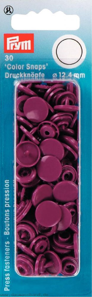 Prym 393134 Color Snaps rund 12,4mm weinrot