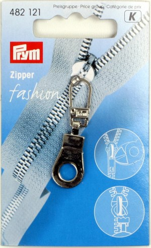 Prym 482121 Fashion-Zipper Öse silberfarbig