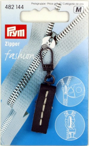 Prym 482144 Fashion-Zipper Leder schwarz
