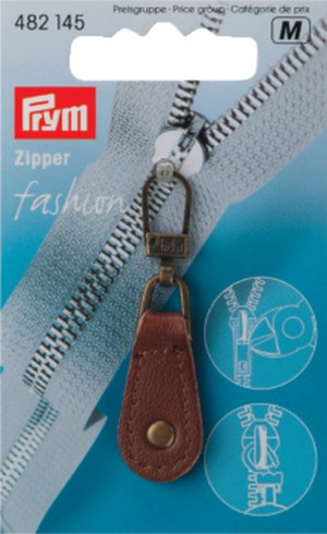 Prym 482145 Fashion Zipper Leder braun