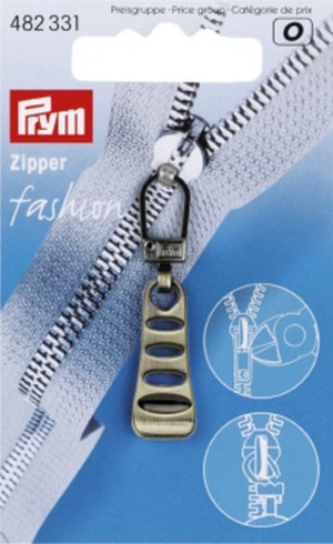 Prym 482331 Fashion-Zipper Leiter altmessing