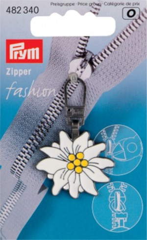 Prym 482340 Fashion-Zipper Alpen Edelweiß