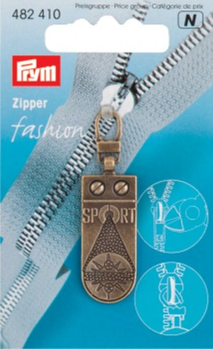 Prym 482410 Fashion Zipper Sportstar altmessing