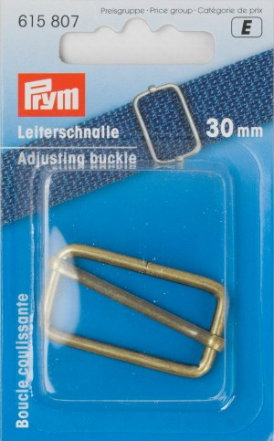Prym 615807 Leiterschnalle 30 mm altmessing