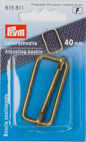 Prym 615811Leiterschnalle 40 mm altmessing