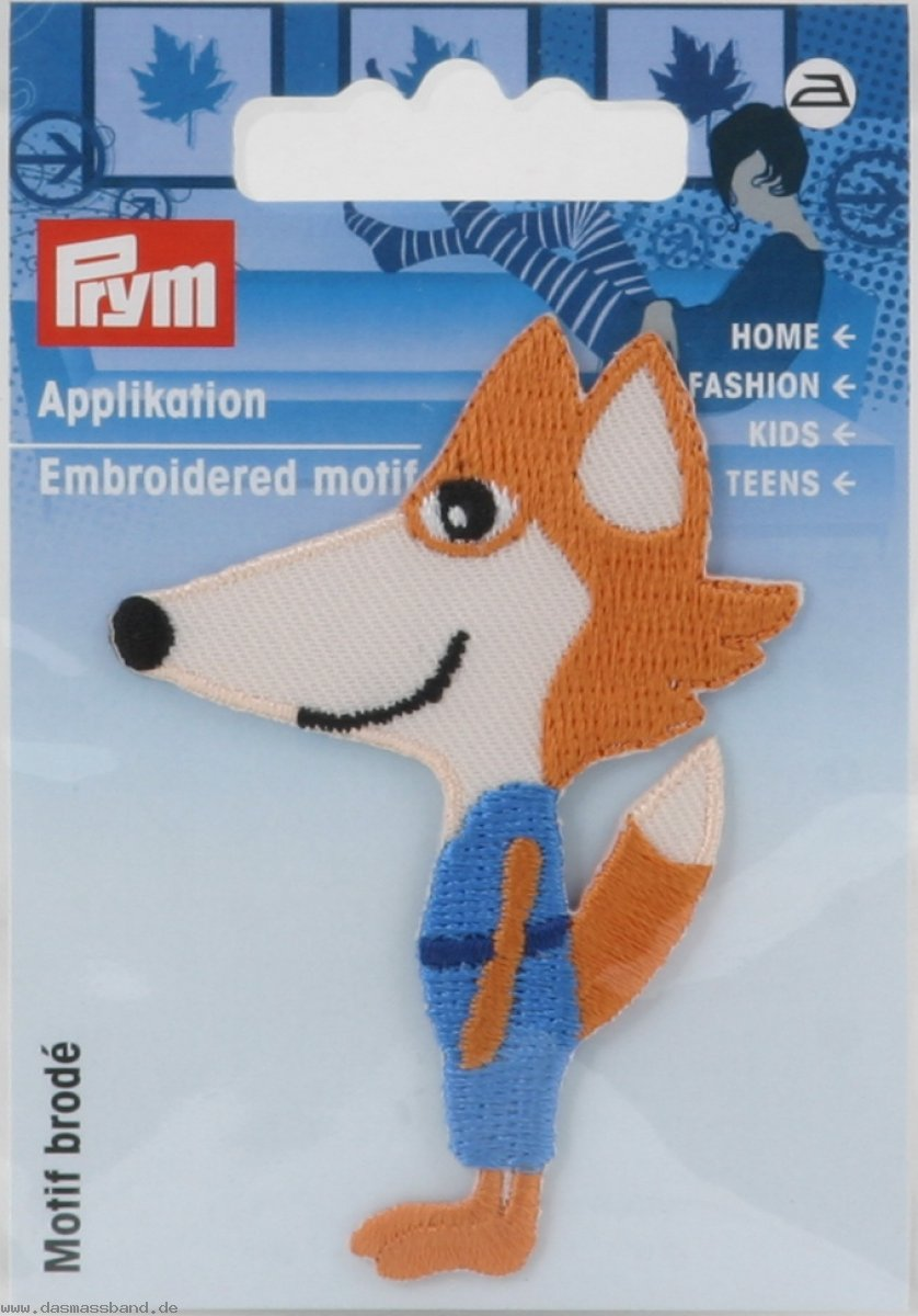 Prym 924208 Applikation Exklusiv Fuchs orange/blau
