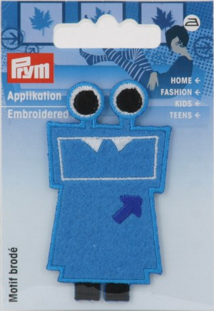 Prym 924217 Applikation Exklusiv Fun Motiv blau