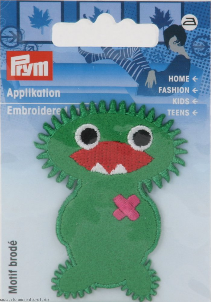 Prym 924218 Applikation Exklusiv Fun Motiv grün