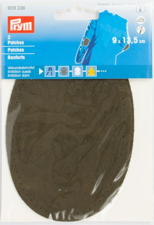 Prym 929336 Patches Velourslederimitat, oliv, 2 Stück