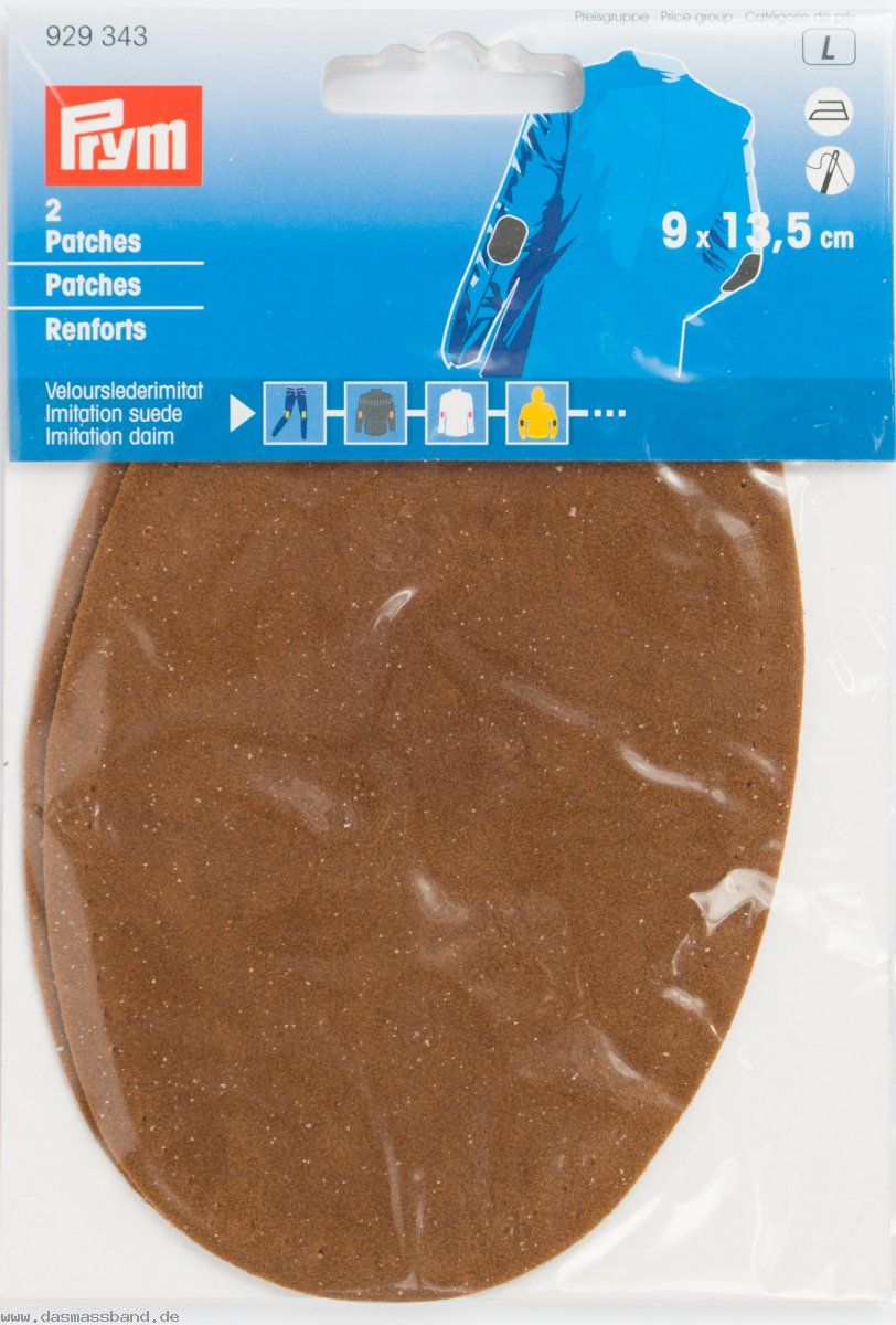 Prym 929343 Patches Velourslederimitat, camel, 2 Stück