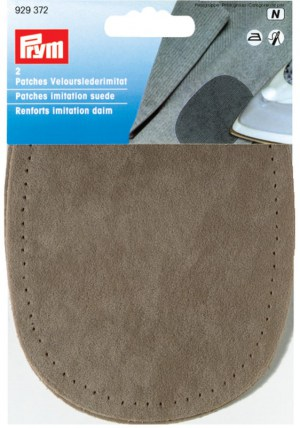 Prym 929372 Patches Velourslederimitat, stein, 2 Stück