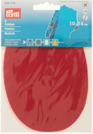 Prym 929378 Patches Velourslederimitat, rot, 2 Stück
