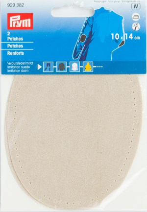 Prym 929382 Patches Velourslederimitat, sand, 2 Stück