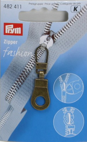 Prym 482411 Fashion-Zipper Öse, Altmessing